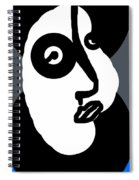 Woman In A Blue Coat Spiral Notebook