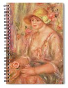 Woman In Muslin Dress, 1917 Spiral Notebook