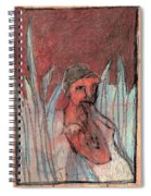 Woman In Reeds Spiral Notebook