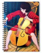 Woman Playing Cello - Bereny Robert Study Spiral Notebook