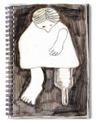 Woman With A Wooden Leg Drawing Spiral Notebook