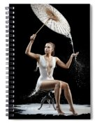 Woman With Milk Dress Spiral Notebook
