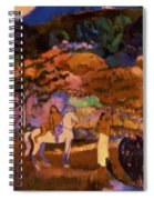 Women And White Horse 1903 Spiral Notebook