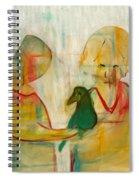 Women Holding A Bird Spiral Notebook