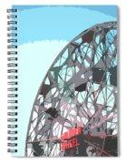 Wonder Wheel On Blue Spiral Notebook