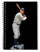 Wood Carving - Babe Ruth 001 Spiral Notebook