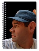 Wood Carving - Babe Ruth 002 Profile Spiral Notebook
