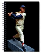 Wood Carving - Ted Williams 001 Black Background Spiral Notebook