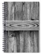 Wood Grain Black And White Spiral Notebook