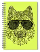 Woolf In Black Glasses Spiral Notebook