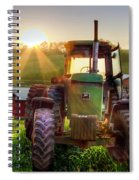 Working John Deere In The Morning Sunshine Spiral Notebook