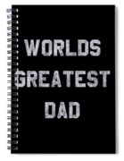 Worlds Greatest Dad Vintage Spiral Notebook