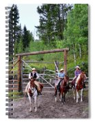 Wyoming Cowgirl Trio Spiral Notebook