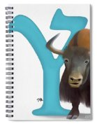 Y Is For Yak Spiral Notebook