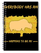Yak Addiction Funny Farmer Animal Lover Spiral Notebook