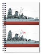 Yamato Class Battleships Port Side Spiral Notebook