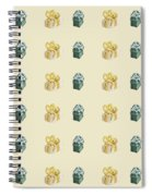 Yellow And Green Present Pattern Spiral Notebook