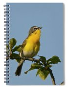 Yellow-breasted Chat Sings Spiral Notebook