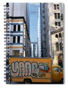 Yellow Graffiti Truck Downtown La Spiral Notebook