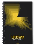 Yellow Map Of Louisiana Spiral Notebook