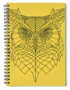 Yellow Owl Spiral Notebook