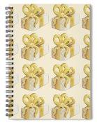 Yellow Presents Pattern Spiral Notebook
