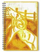 Yellow Ram Spiral Notebook