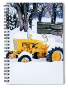 Yellow Tractor In The Snow Spiral Notebook