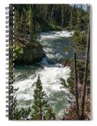 Yellowstone Rapids Spiral Notebook