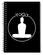 Yoga Image Of Silhouette Of Woman Sitting In Lotus Position Or Padmasana Spiral Notebook