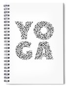 Yoga Shirt Spells Yoga Gift In Yogi Positions Spiral Notebook