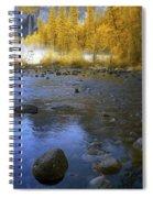Yosemite River In Yellow Spiral Notebook