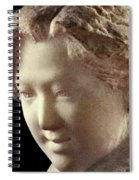 Young Girl-part-arttopan Carving-realistic Stone Sculptures-marble Spiral Notebook