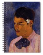 Young Man With A Flower Behind His Ear 1891 Spiral Notebook