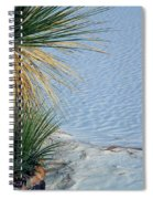 Yucca Plant In Rippled Sand Dunes In White Sands National Monument, New Mexico - Newm500 00113 Spiral Notebook