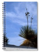 Yucca Plant In Rippled Sand Dunes In White Sands National Monument - Newm500 00107 Spiral Notebook