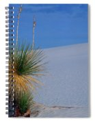 Yucca Plant In Sand Dunes In White Sands National Monument, New Mexico - Newm500 00112 Spiral Notebook