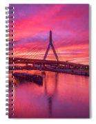 Zakim Bridge Sunset Spiral Notebook