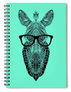 Zebra In Glasses Spiral Notebook