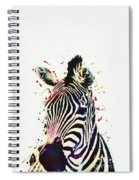 Zebra Watercolor Painting Spiral Notebook
