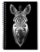 Zebra's Face Spiral Notebook