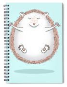 Zen Hedgehog Meditating Spiral Notebook