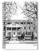 Zeta Tau Alpha Sorority House, Purdue University, West Lafayette, Indiana, Fine Art Print Spiral Notebook