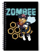 Zombee Zombie Bee Halloween For Beekeeper Apiarist Dark Light Spiral Notebook