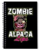 Zombie Alpaca Lips Halloween Pun Llama Alpacalypse Dark Spiral Notebook