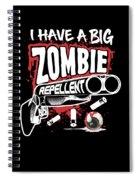 Zombie Repellent Halloween Funny Gun Art Dark Spiral Notebook