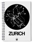 Zurich Black Subway Map Spiral Notebook