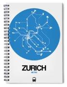 Zurich Blue Subway Map Spiral Notebook