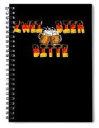 Zwei Bier Bitte Cool German Oktoberfest Beer Festival Design For Beer Lovers And Beer Drinkers Spiral Notebook
