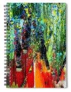 Forest Summer Rain Spiral Notebook